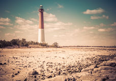 Barnegat Lighthouse, New Jersey, retro Royalty Free Stock Images