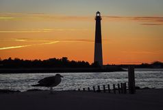 Barnegat Lighthouse in New Jersey Royalty Free Stock Images