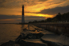 Barnegat Lighthouse Sunrise Royalty Free Stock Image