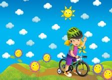Barnen på turen - illustration Royaltyfria Foton