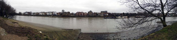 Barnes across the Thames. Panoramic  view  of Barnes West London Stock Photo