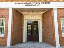 Barnes, Alford, Ooievaar & Johnson Attorneys bij Wet op Hoofdst, Colombia, Sc wordt gevestigd dat stock foto's