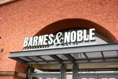 Barnes e segno nobile della libreria fotografia stock