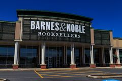 Barnes & Noble Booksellers Entrance. Wyomissing, PA, USA - June 14, 2018: Barnes & Noble is a large bookseller with over 630 retail stores in all 50 U.S. states royalty free stock image