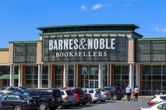 The Barnes & Noble Booksellers Store. Wyomissing, PA, USA - June 14, 2018: Barnes & Noble is a large bookseller with over 630 retail stores in all 50 U.S. states royalty free stock photography