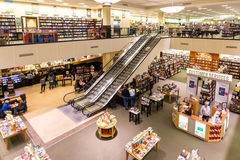 Barnes & Noble bookstore. Barnes & Noble, Inc. is the largest retail bookseller in USA and the last remaining national bookstore chain Royalty Free Stock Image