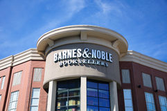 Barnes and Noble Building. Barnes and Noble Bookstore in West Hartford Connecticut in Blue Back Square Royalty Free Stock Photography