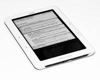 Barnes and Noble Nook. JAN 8 - NEW YORK CITY:  Thursday, Jan. 5, 2011, Barnes & Noble announces it\'s considering splitting off its popular Nook e-book business Royalty Free Stock Photos