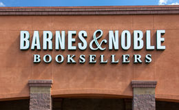 Barnes and Noble Store Exterior. GILROY, CA/USA - JULY 19, 2014: Barnes and Noble store exterior. Barnes & Noble is the largest retail bookseller in the United royalty free stock photography