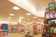 Barnes and Noble store interior. New Jersey, NJ, October 27 2018: Barnes and Noble store interior. Barnes & Noble Booksellers is the largest retail bookseller royalty free stock photo