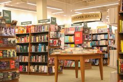 Barnes and Noble store interior. New Jersey, NJ, October 27 2018: Barnes and Noble store interior. Barnes & Noble Booksellers is the largest retail bookseller stock photos
