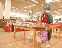 Barnes and Noble store interior. New Jersey, NJ, October 27 2018: Barnes and Noble store interior. Barnes & Noble Booksellers is the largest retail bookseller royalty free stock photography