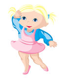 Barnet - ballerina Royaltyfri Fotografi
