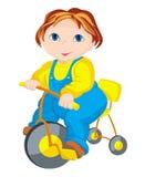 Barnet - chaufför Arkivfoto