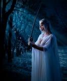 Barnet elven flickan Fotografering för Bildbyråer