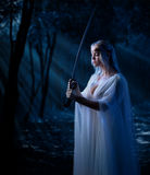 Barnet elven flickan Arkivbild
