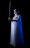 Barnet elven flickan med svärdet Arkivfoto