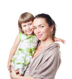 barnet hands kvinnan royaltyfri fotografi