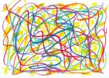 barnet klottrar stock illustrationer