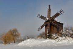 barnet mal windmillen för spelrum s Arkivfoto
