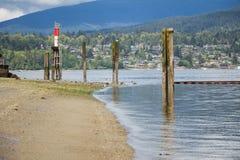 Barnet Marine Park Beach och fyr Fotografering för Bildbyråer