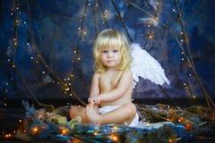 Barnet med vingar av en ängel 13 Arkivbilder