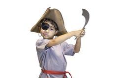 Barnet piratkopierar dräkten Royaltyfri Fotografi