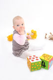 barnet stänger handmunnen Royaltyfri Fotografi