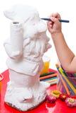 Barnet tecknar ögondvärgen arkivbilder