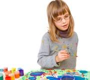 barnet tecknar Royaltyfri Bild