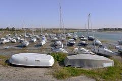 Barneville-Carteret港在法国 免版税库存照片
