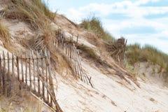 Barneville Carteret,诺曼底,法国空的海滩  免版税库存图片