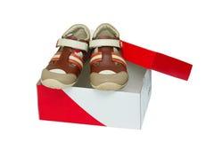 barnfärg shoes litet Royaltyfria Bilder