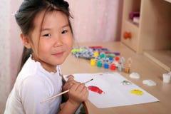 barnfärgläggning royaltyfri bild