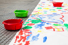Barnfärgmålning Arkivfoto