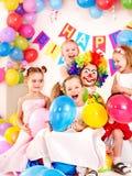 Barnfödelsedagparti. Royaltyfri Foto