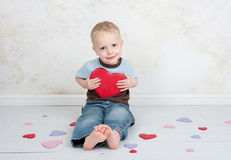 barnförälskelsevalentin Royaltyfri Bild