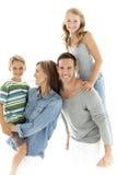 barnfamiljer lyckliga många för familj min portfölj två Royaltyfri Foto