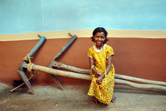 barnflicka india Fotografering för Bildbyråer