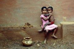barnflicka india Arkivbilder