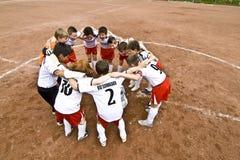 Barnfotboll Fotografering för Bildbyråer