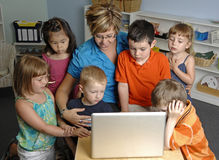 barnförträning Fotografering för Bildbyråer