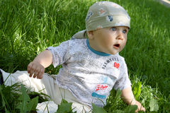 barngräsgreen Royaltyfria Bilder