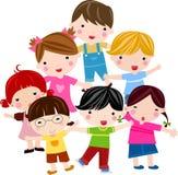 barngrupp Arkivfoton