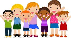 barngrupp Arkivfoto