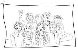 barngrupp Fotografering för Bildbyråer