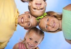 barngyckel som tillsammans har royaltyfri bild