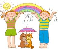 barngymnastik s vektor illustrationer