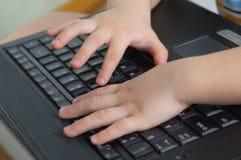 barnhänder Arkivfoton