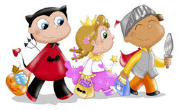 barnhalloween maskeringar Royaltyfri Fotografi